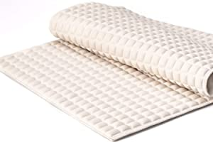 """BOWERBIRD Premium Air Cushion Bathtub Mat with 800+ Air-Filled Cells, Provide Unprecedented Cushioned and Soft Comfort, Reduce Fatigue on Your Feet (Natural Rubber, Cream, 27""""×15"""")"""