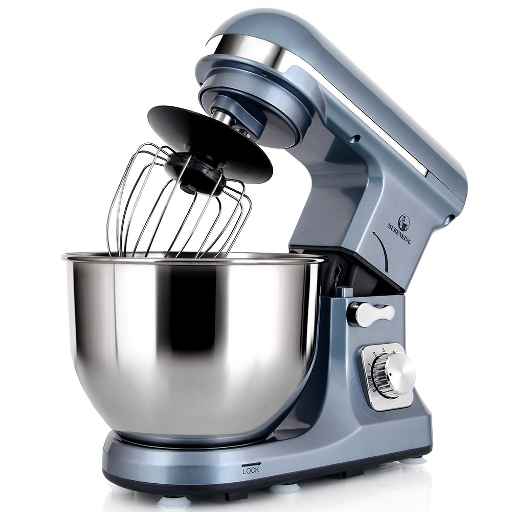 MURENKING Professional Stand Mixer MK37 500W 5-Qt Bowl 6-Speed Tilt-Head Food Electric Mixer Kitchen Machine(Champagne)