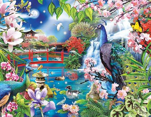 Peacock Garden 1000 pc Jigsaw Puzzle