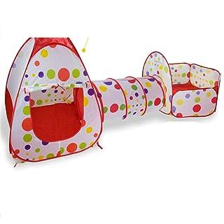 Melodycp Giochi di Ruolo riutilizzabili Fingi Giocattoli PE Baby Game House Pieghevole Portatile 3 Pezzi Set casa Pieghevole all'Interno o all'aperto e Giocare Tenda di Gioco