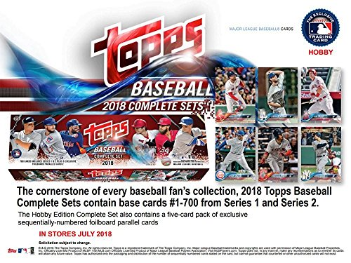 (2018 Topps Baseball Factory Hobby Set (705 cards with 5 Bonus Parallels) )