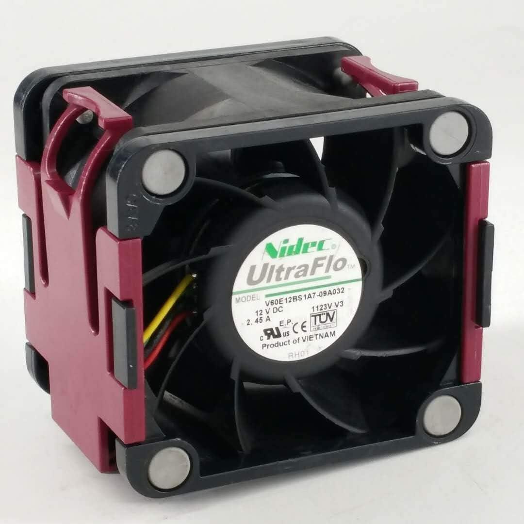 for Nidec V60E12BS1A7-09A032 12V 2.45A 6CM Server Cooling Fan