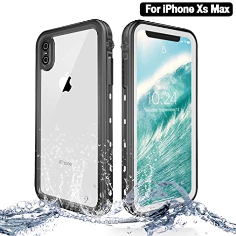 3908f524427 NewTsie Funda Impermeable iPhone XS MAX, Anti-rasguños Impermeable Carcasa  Funda Case con Protector