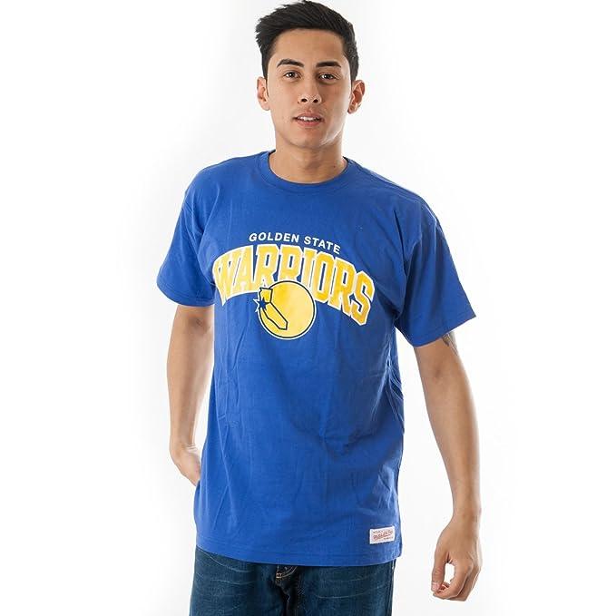 Mitchell   Ness NBA Golden State Warriors Team Arch Tee T Shirt T-Shirt Mens a9ce3a59ffb