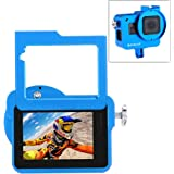 PULUZ for GoPro New Hero (2018) GoPro HERO6/5 CNC Aluminum Alloy Housing Shell Case Protective Cage with Insurance Frame & 52mm UV Lens (Blue)