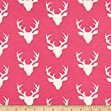 Art Gallery Fabrics Art Gallery Buck Forest Jersey Knit Fabric by the Yard, Camellia