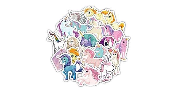 33 Unds pegatinas plastificadas de unicornios para patinetes ...