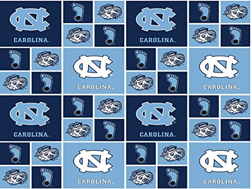 UNIVERSITY OF NORTH CAROLINA TARHEELS COTTON FABRIC-100% COTTON UNIVERSITY OF NORTH CAROLINA TARHEELS FABRIC SOLD BY THE YARD-UNIVERSITY OF NORTH CAROLINA TARHEELS #20 ()