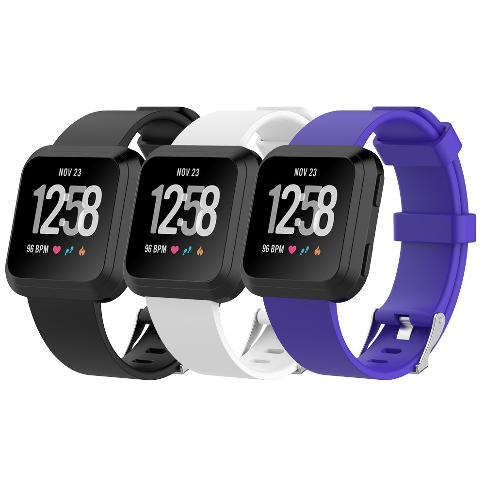 Silicone Replacement Secure Band for Fitbit Versa Adjustable Wristband and Wristwatch Style HWHMH Bands for Fitbit Versa