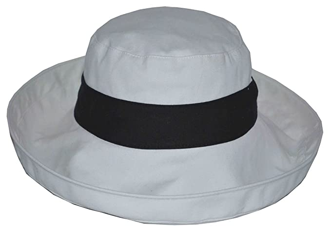 Jeanne Simmons Women s UPF 50+ UV Block Large Brim Canvas Cotton Bucket Hat  (Black 942f7984edfb