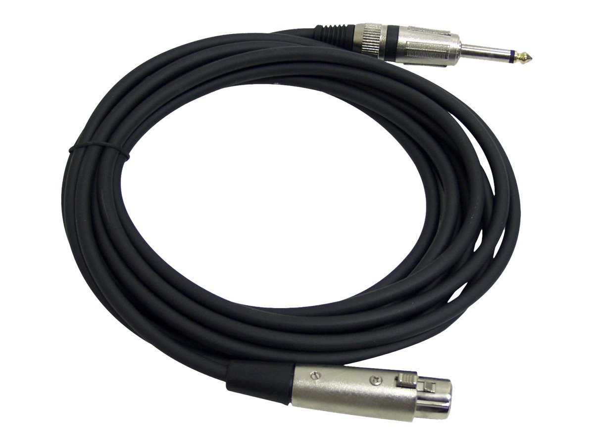 15ft. Professional Microphone Cable 1/4'' Male to XLR Female Sound Around PPMJL15