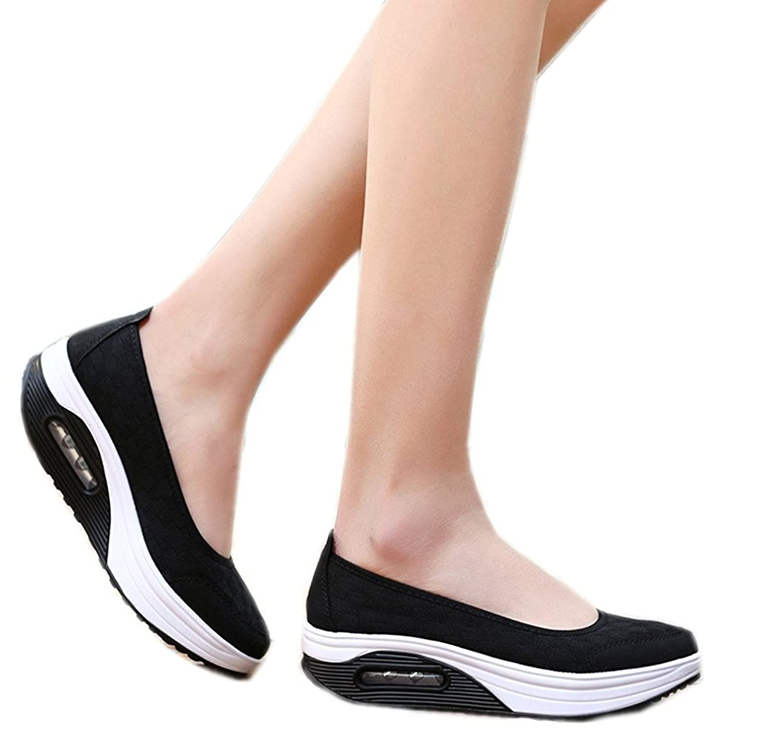Amazon.com | Zicoope Women's Athletic Casual Slip-On Toning Sneaker Walking  Shoe | Walking