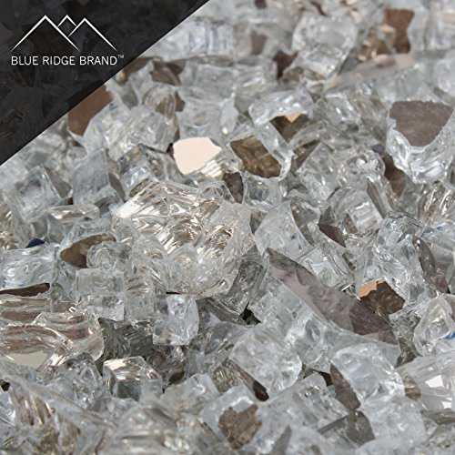 Blue Ridge Brand Reflective Fire Pit Glass (5 pound, Clear)