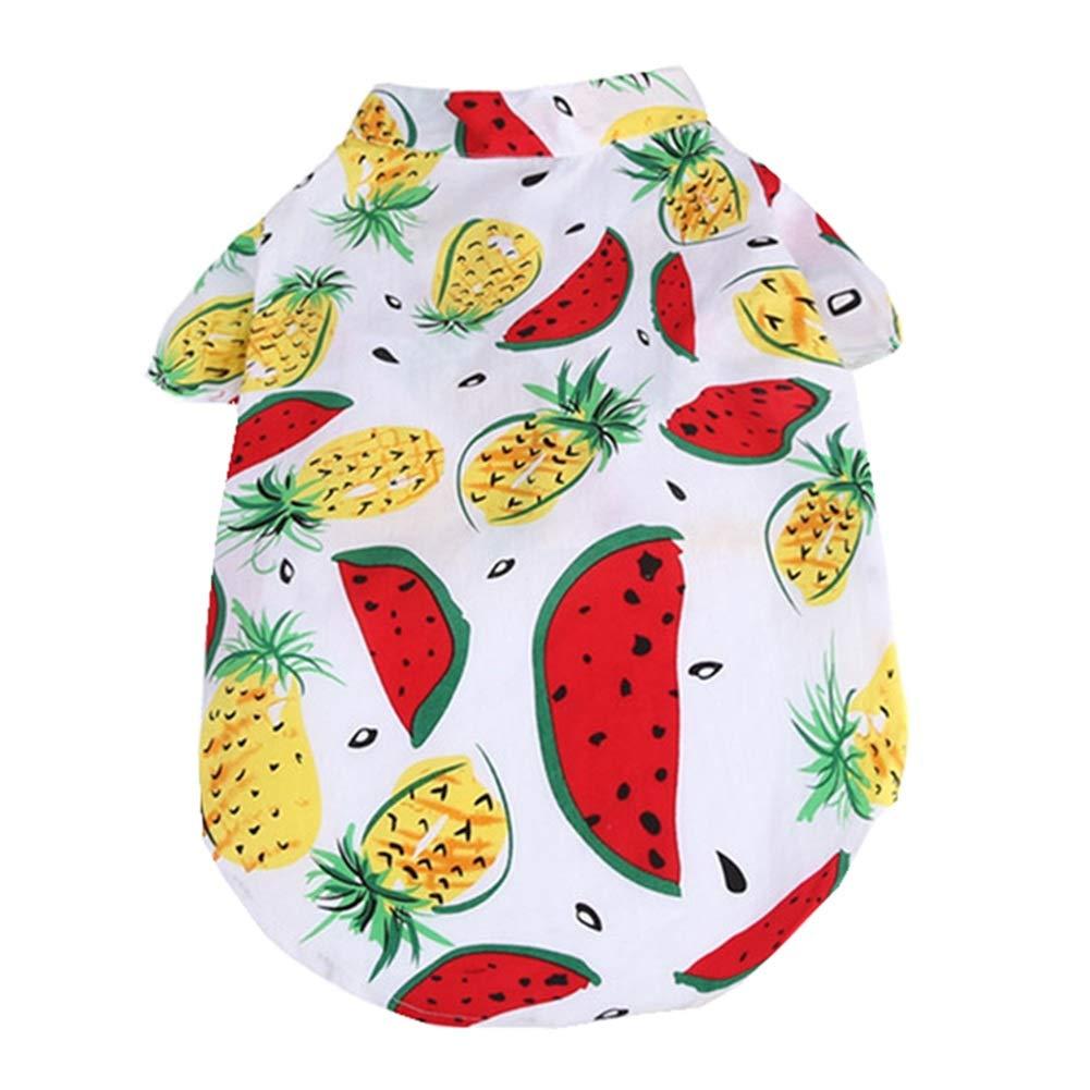 Cute Pet Clothing Vestiti del Gatto del Cane Cane Vestiti Ragazzo Ragazza Vestiti di Cane Cane Camicia Stampata Piccolo Cucciolo Gatto Coniglio FENGMING (colore   Watermelon, Dimensioni   XL)