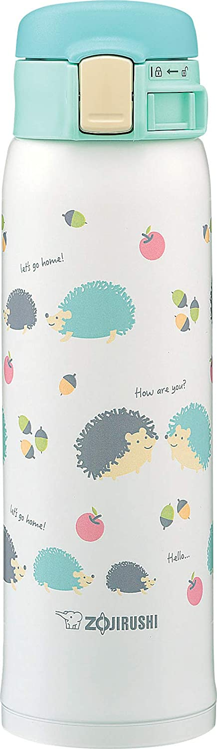 Zojirushi SM-SG48GK, Stainless Steel Vacuum Insulated Mug, 16-Ounce, Hedgehog Mint