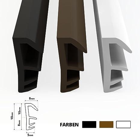 Fensterdichtung Dichtung 4mm Nutbreite 12mm Falz hochwertige Gummidichtung Holzfensterdichtung Stahlzargendichtung Fenster spart Heizkosten 5 Meter schwarz
