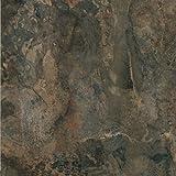 Solid Marble Dark Slate Marble Vinyl Floor Tiles Self Stick Peek Flooring 12'' x 12'' 2-Pack (40 Pieces)