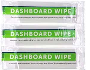 UTowels Individually Sealed Large Dashboard Wipes Perfect for Cleaning Leather, Glass, Dust Off Dashboards and Steering Wheels (100)