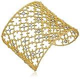 Alexis Bittar Crystal Studded Spur Lace Cuff Bracelet