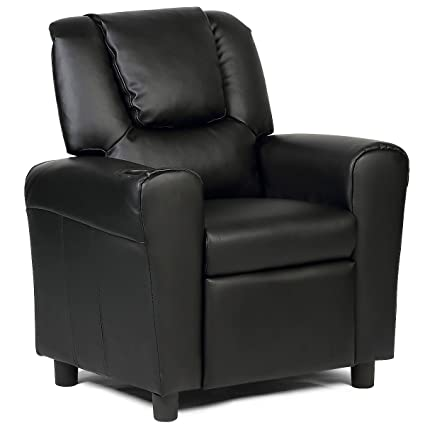 Amazoncom Costzon Contemporary Kids Recliner Pu Leather Lounge