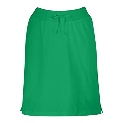 AmeriMark Women's Skort Stretch Knit with Pocket Knee Length Skirt with Elastic at Women's Clothing store