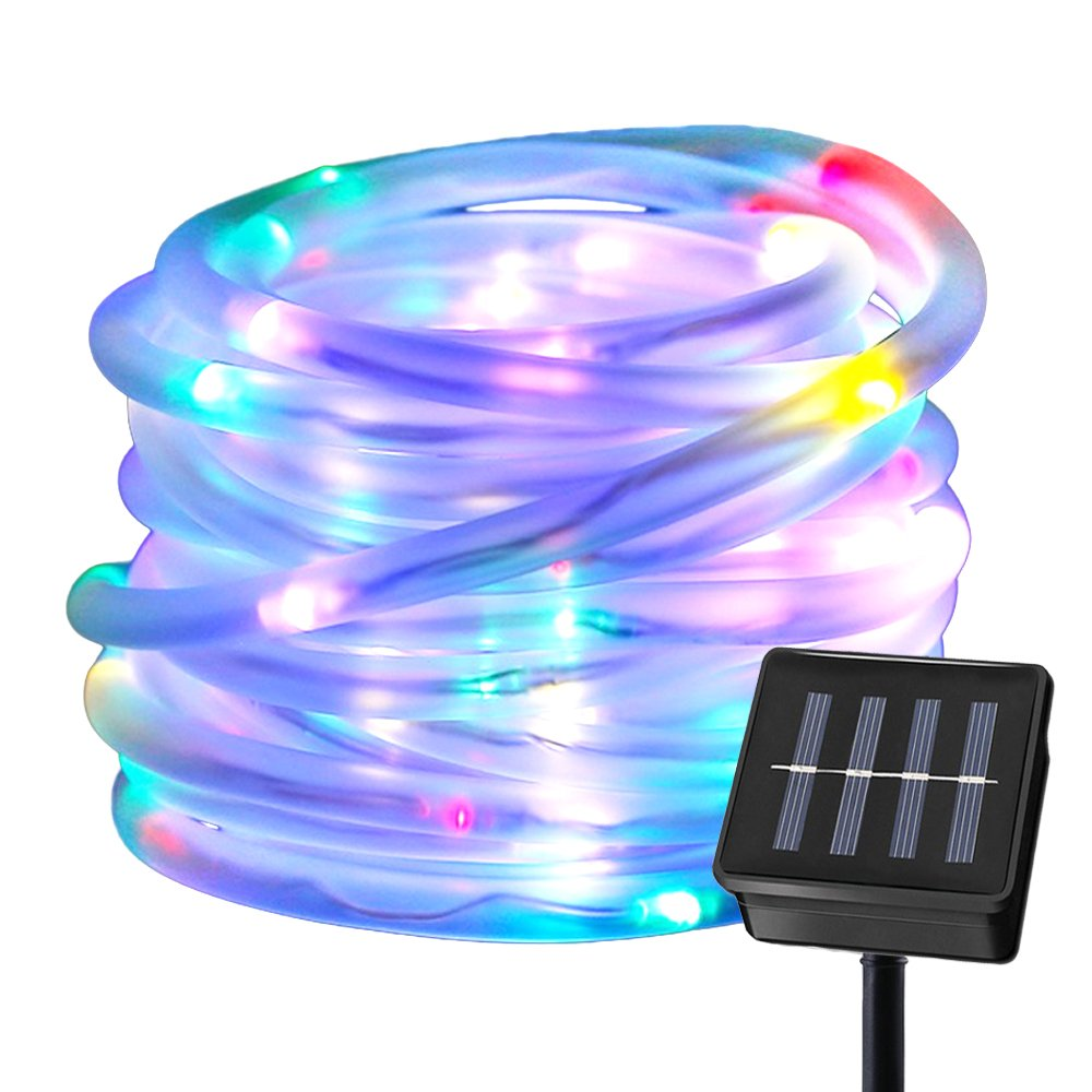 Solar Powered 50 LED Rope Lights by Ruichen