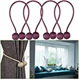 YIDIE Curtain Tiebacks Classic European Window Holdbacks Home Office Decorative Drapes Holders with Strong Magnetic,Light Purple/2 Pair