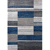 3401 Blue 5x7 Area Rug Modern Carpet Large New