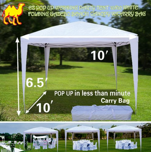STRONG CAMEL EZ POP UP Wedding Party Tent 10'x10' Folding Ga