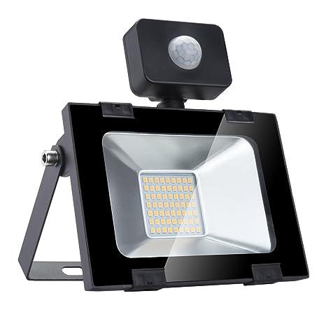 Proyector LED Sensor PIR Lámpara de iluminación de jardín de ...