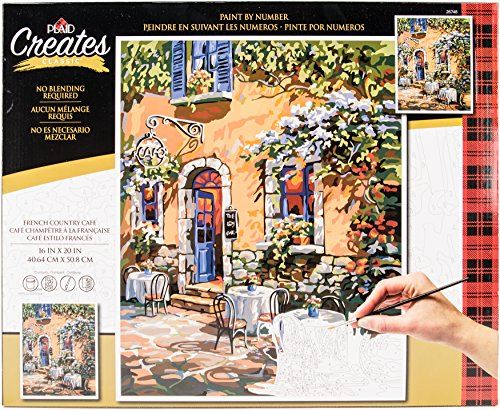 Plaid Creates French Country Cafe Paint by Number Kit 16