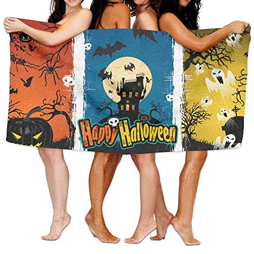 Happy Halloween Awesome Art Wallpaper Patterned Surf Pool Towel