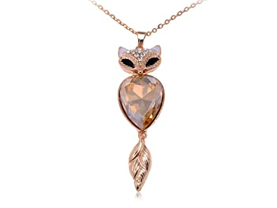 56462c5b04d9a Amazon.com: Alilang Rose Golden Tone Black Eyed Clear Topaz Crystal ...