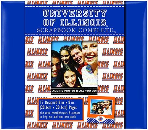 C.R. Gibson Scrapbook Complete Kit, Small, University of Illinois (C879256M) ()