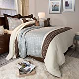 Bedford Home Ashley 10 Piece Comforter Set - King - Silver