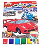 build your own speed boat kit - Savvi Magic Paint Posters ~ Speed Machines (Cars and Motorcycles Take the Track; 12 Posters, 6