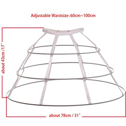GRACEART Hoop Skirt Pannier Triangular Crinoline (White): Amazon.co.uk: Clothing