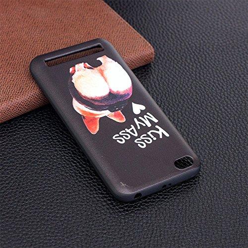 Grandcaser Funda para Xiaomi Redmi 5A,Ultra Fina Slim Flexible Duradera Protectora Funda Estuche de Silicona TPU Gel Original Goma Grip Bumper Design Carcasa - Patrón simétrico Culo