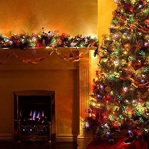 50 LED Blühen Solar Lichterkette Weihnachten Außenbeleuchtung Dekoration bl