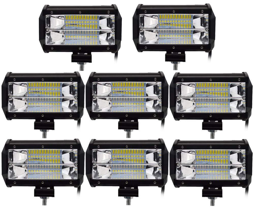 Leetop 3X 72W Focos de Coche LED Potentes,IP67 Impermeable Blanco Fr/ío Faro de Trabajo LED para Off-Road Cami/ón,Todoterreno,Tractor,Barco