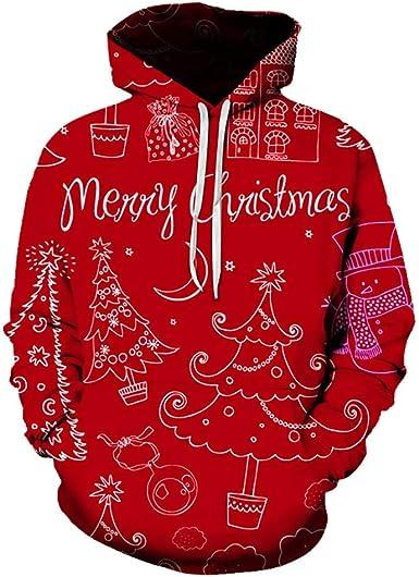 Vectry Sudaderas Hombre Moda Para Parejas Tallas Grandes Navidad Impresion 3d Manga Larga Sweatershirt Tops Sudadera Con Capucha Casual Deporte Blusa Hoodie Camisa Amazon Es Ropa Y Accesorios
