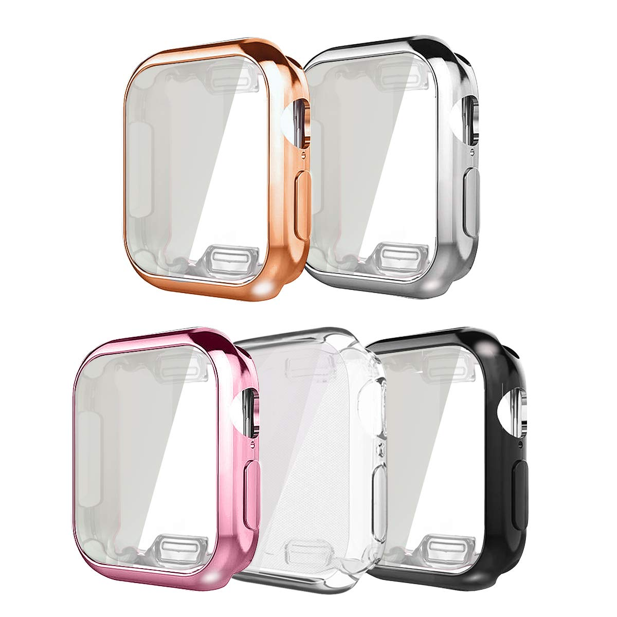 ISENXI Compatible for Apple Watch 4 Case 40mm, 5 Pack iwatch Screen Protector TPU All-Around Protective Case hd Clear Ultra-Thin Cover Compatible with New Apple Watch Series 4 (5Pack, 40MM) by ISENXI