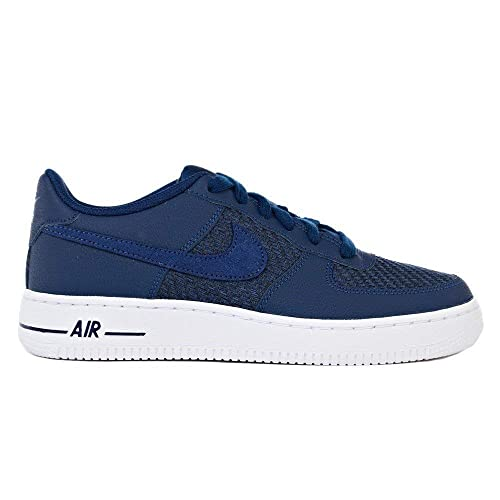 buy popular 45e27 5e5ec NIKE - Air Force 1 LV8 GS - 820438406 - Color Navy Blue - Size 3.5  Amazon.co.uk Shoes  Bags