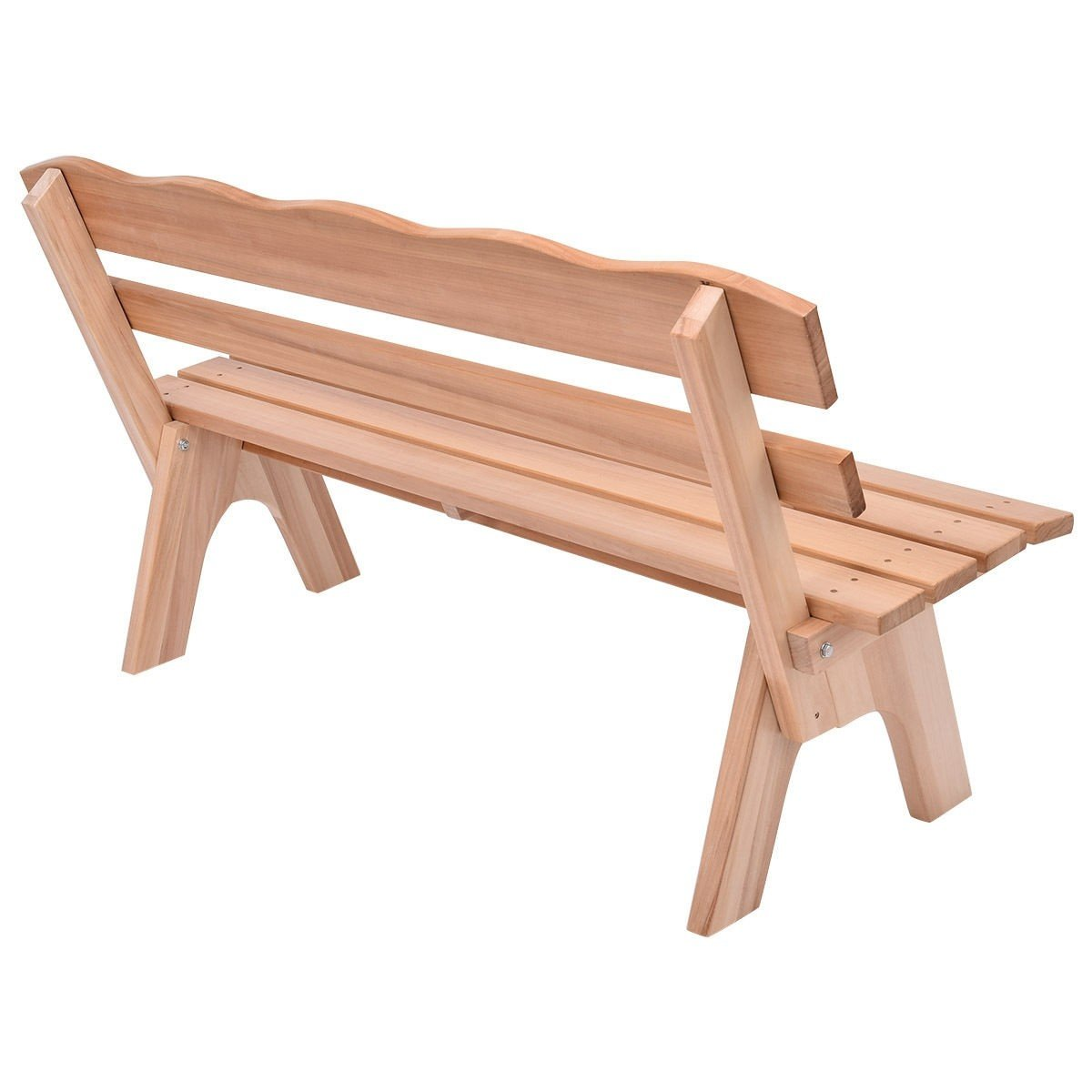 MD Group 5 ft 3 Seats Outdoor Wooden Garden Bench Chair, Brown by MD Group (Image #8)