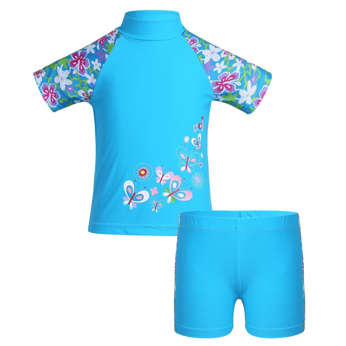Freebily Costume da Bagno Bambina Costumi a Due Pezzi Ragazza Tankini Costume Intero Bikini Costumi Mare Bambina Intero Mare Piscina Nuoto Protezione Solare 50