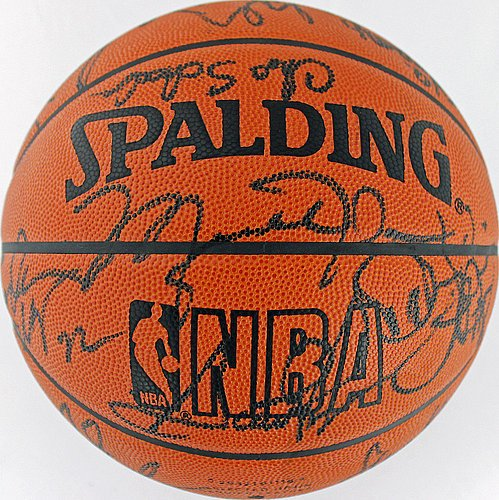 1995-96-Bulls-Team-16-Signed-Front-Office-Basketball-Jordan-Pippen-Jackson-JSA-Certified