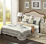 Tache Home Fashion SD2876-Twin 2 Piece Checkered Morning Flower Galore Reversible Bedspread Quilt Set, Twin