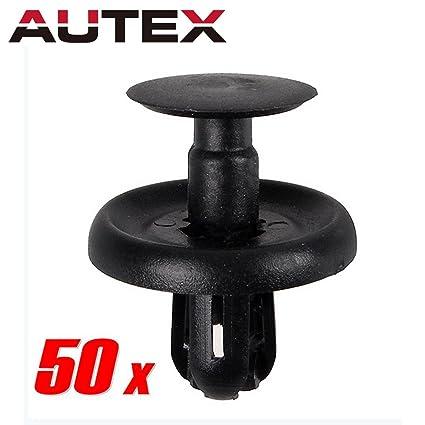 AUTEX PartsSquare 50pcs Fender Liner Fastener Rivet Push Clips Retainer  Replacement for Lexus GS300 GS450 GX460 HS250 Scion tC xD Replacement for