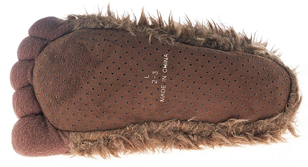 Toddlers Kids Grizzly Bear Stuffed Animal Claw Paw Slippers