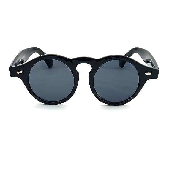 Kiss Lunettes de soleil style MOSCOT mod. THICK Steampunk - Johnny Depp  homme femme RONDE vintage unisex - NOIR  Amazon.fr  Vêtements et accessoires aa0095e0267d